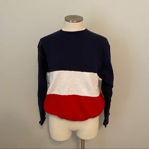Brandy Melville Erica Red/White/Blue Crewneck